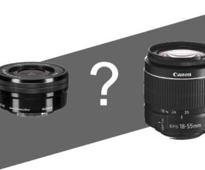 Комплектні (кітові) об'єктиви Canon та Sony – хто кого